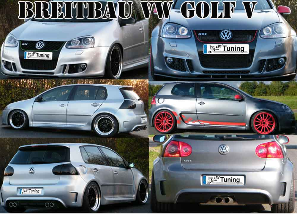 bodykit breitbau breitbausatz vw golf v 5 sto stange. Black Bedroom Furniture Sets. Home Design Ideas