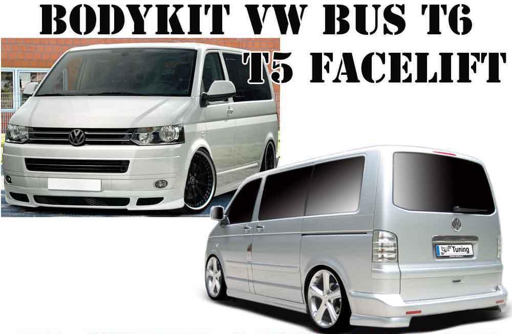bodykit vw bus t5 facelift t6 frontspoileransatz heckansatz seitenschwellersatz ebay. Black Bedroom Furniture Sets. Home Design Ideas