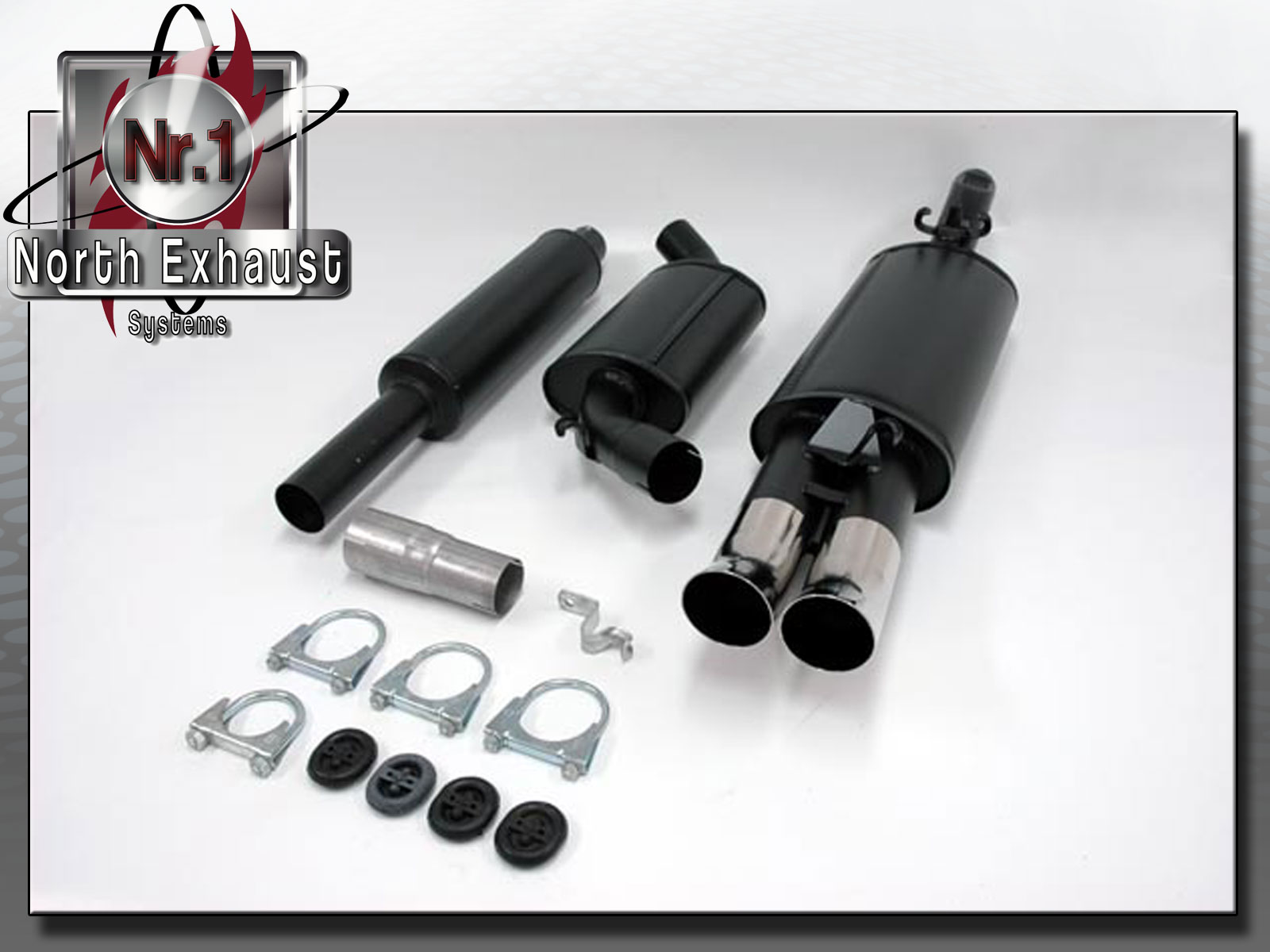 North-Exhaust-Gr-A-Sport-Komplettanlage-VW-Golf-II-GTI-16V-G60-2x76DTM